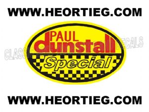 Paul Dunstall Special Tank and Fairing Transfer Decal DDUN4-7